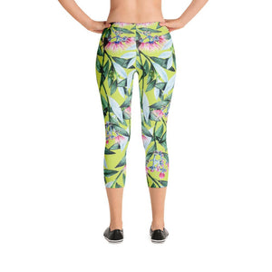Floral Cure Capri Leggings