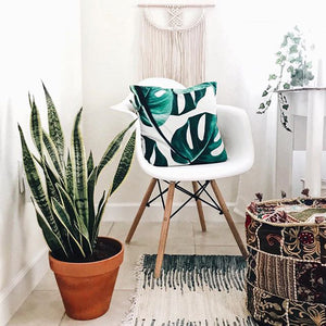 Monstera Square Pillow