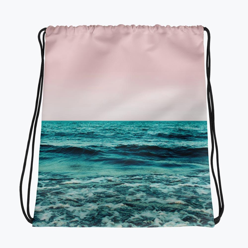 Ocean Love Drawstring bag