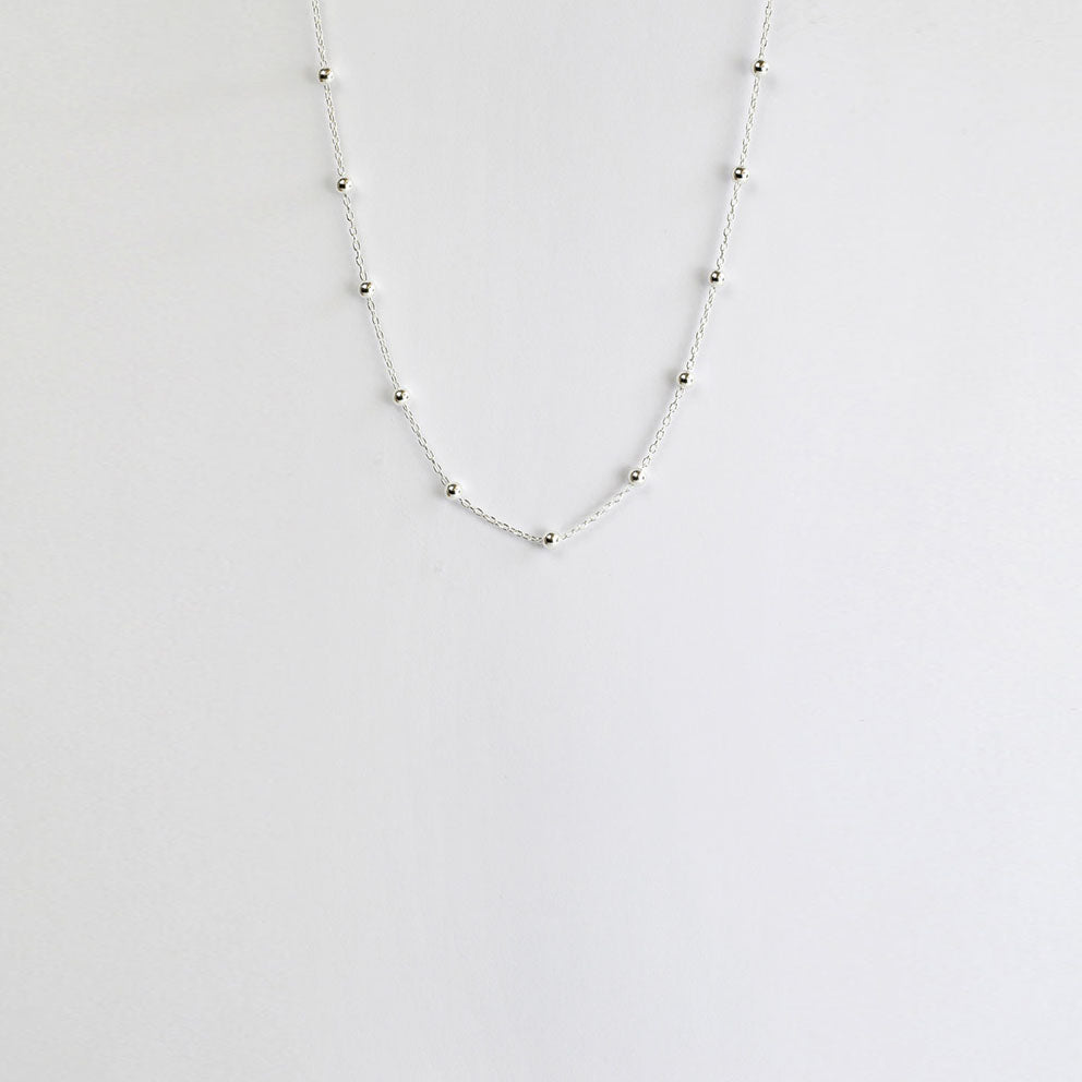Tracks Silver Necklace