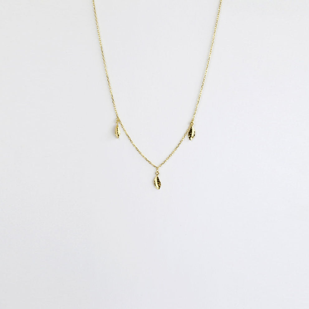 Pluma Gold Necklace