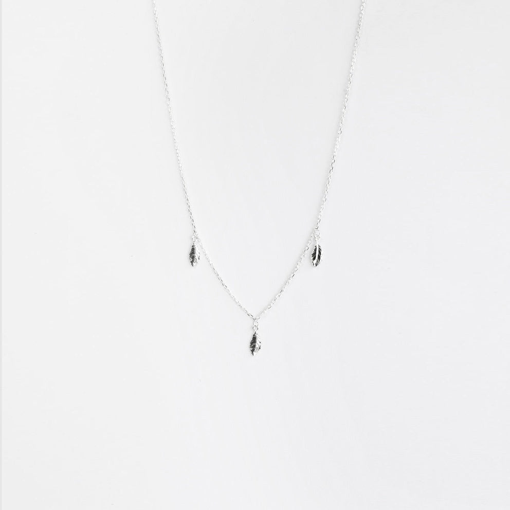 Pluma Silver Necklace