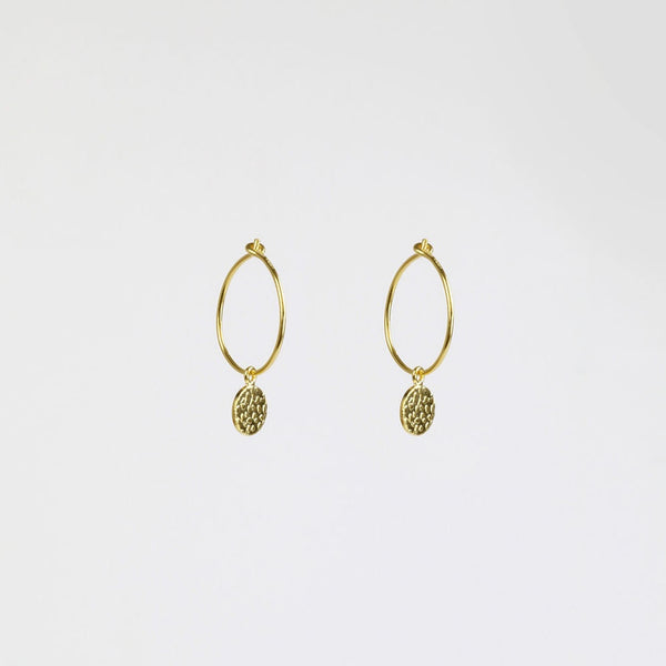 Night Gold Hoops