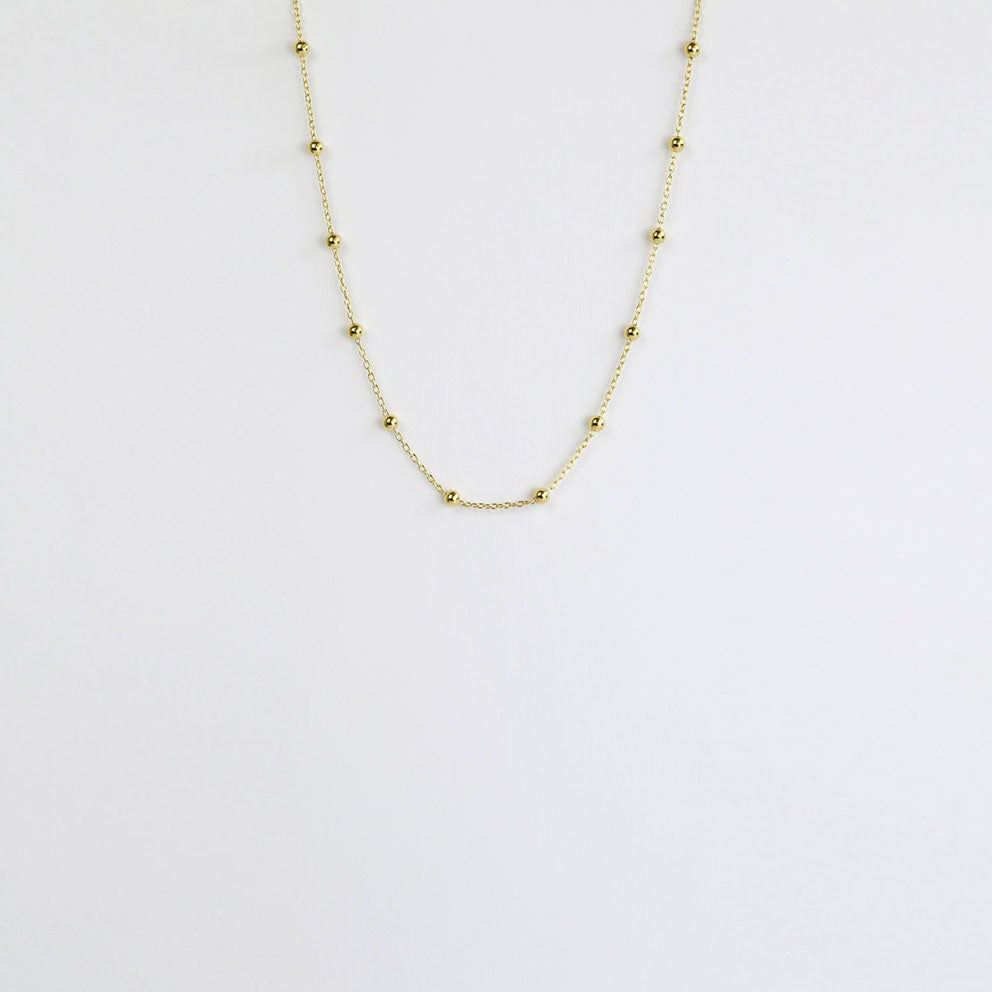Tracks Gold Necklace