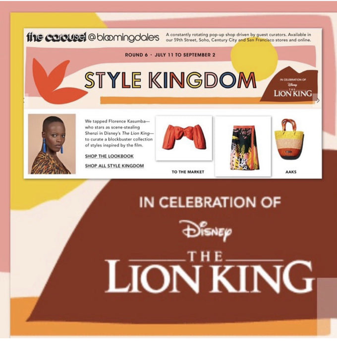 African Fashion showcased at Bloomingdale's The Lion King pop-up