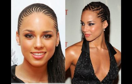 Alicia Keys in African Hairstyles