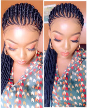 Braided wig/ Ghana Weaving Braided Wig/ Cornrow Wig / Full Lace wig