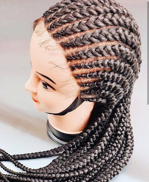 Full Frontal Cornrow wig tribal