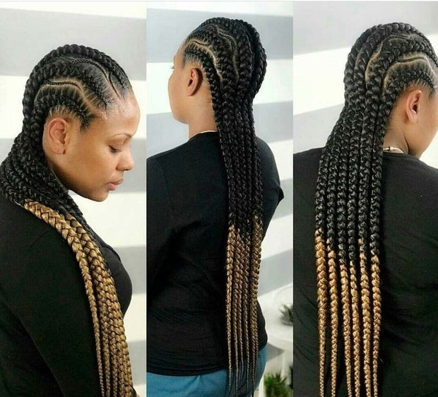 Braided wig, Cornrow Wig, Ghana Weaving wig