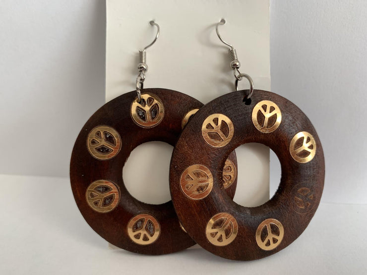 Handmade African Wooden Earrings