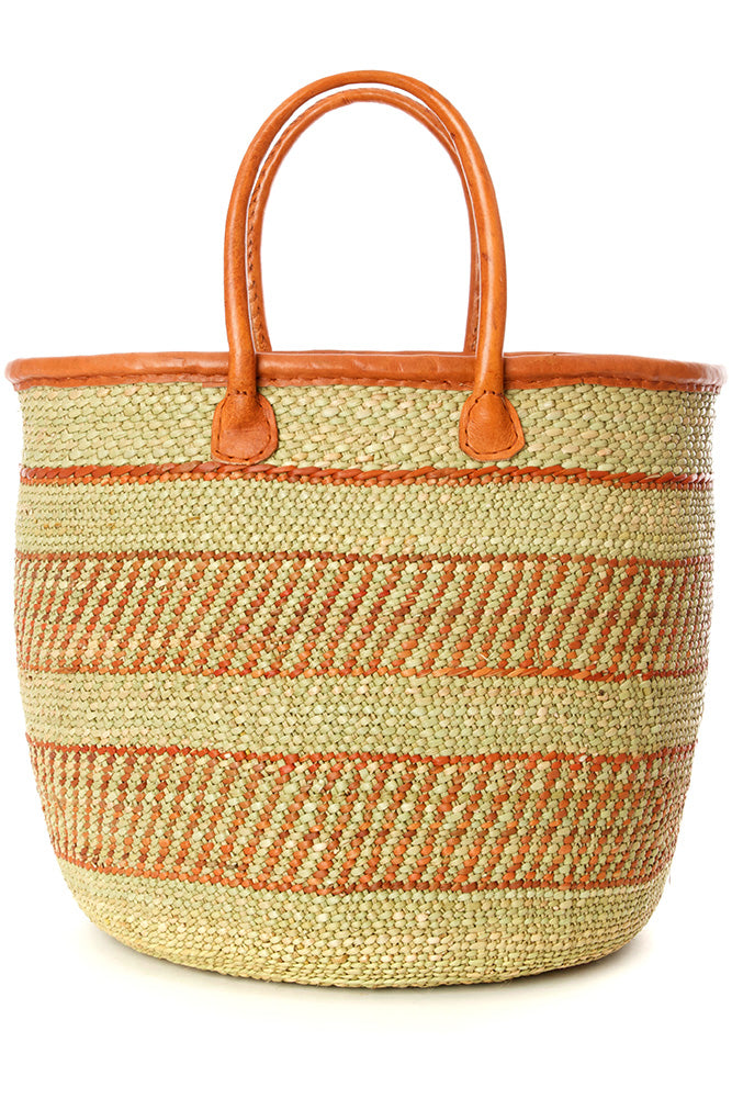 Iringa Basket Shopper with Leather Handle