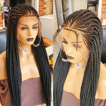 Load image into Gallery viewer, Braided Wig, triangle cornrow 26 inches inches. Braidwig, Braidswig full lace