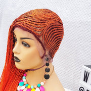 Beyonce Inspired Braided Wig,. Cornrow 38/40 inches in Orange Lemonade