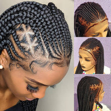 Load image into Gallery viewer, Braided Wig, triangle cornrow 16 inches inches. Braidwig, Braidswig. Full lace wig.