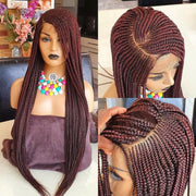 Full Frontal Lace Cornrow , Braidwig, Braidswig. 12/14inches.