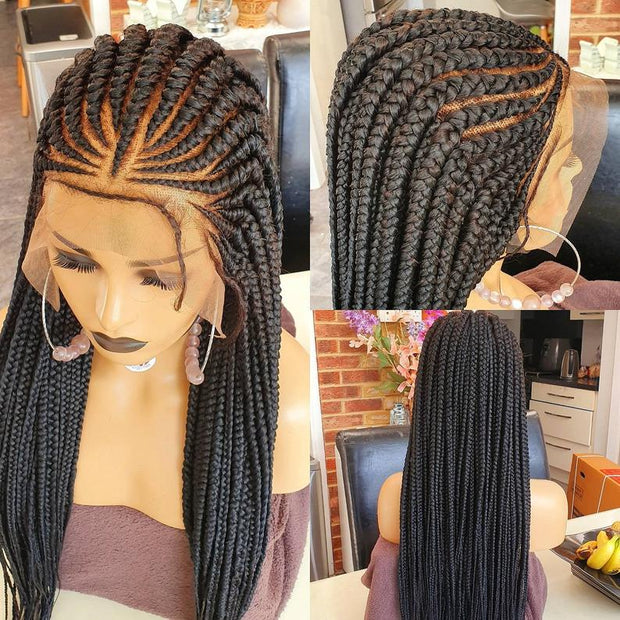 Braided Wig, triangle cornrow 26 inches inches. Braidwig, Braidswig full lace