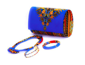 Dashiki Wallet in set with Earrings, Necklace and Bracelet