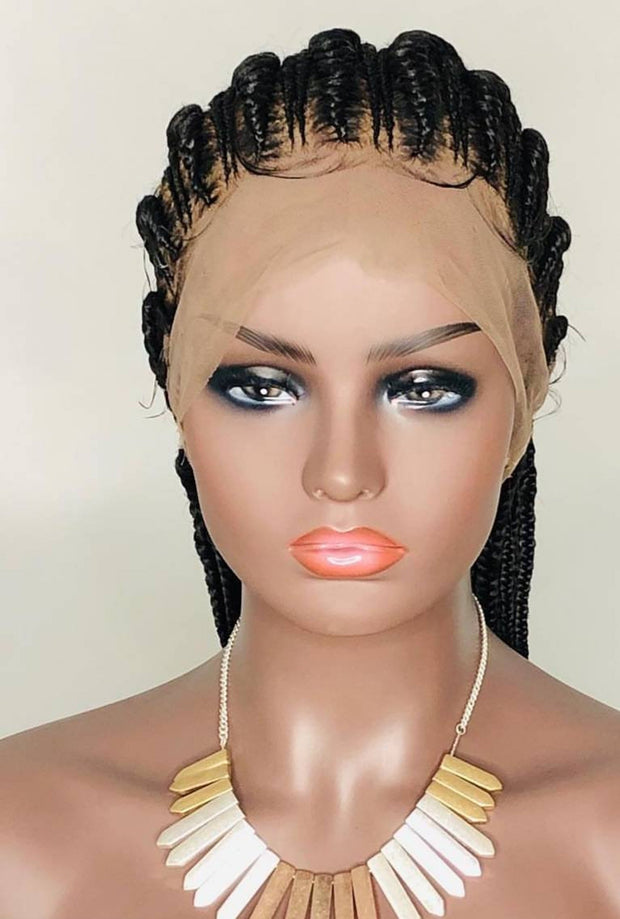Full Lace braided Wig/Ghana Weaving/360 Round wig/Braided wig/ Cornrow wig