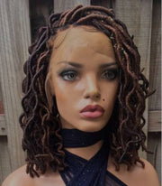 Braided wig,handmade wig,custom wig,self care,bohemian faux locs