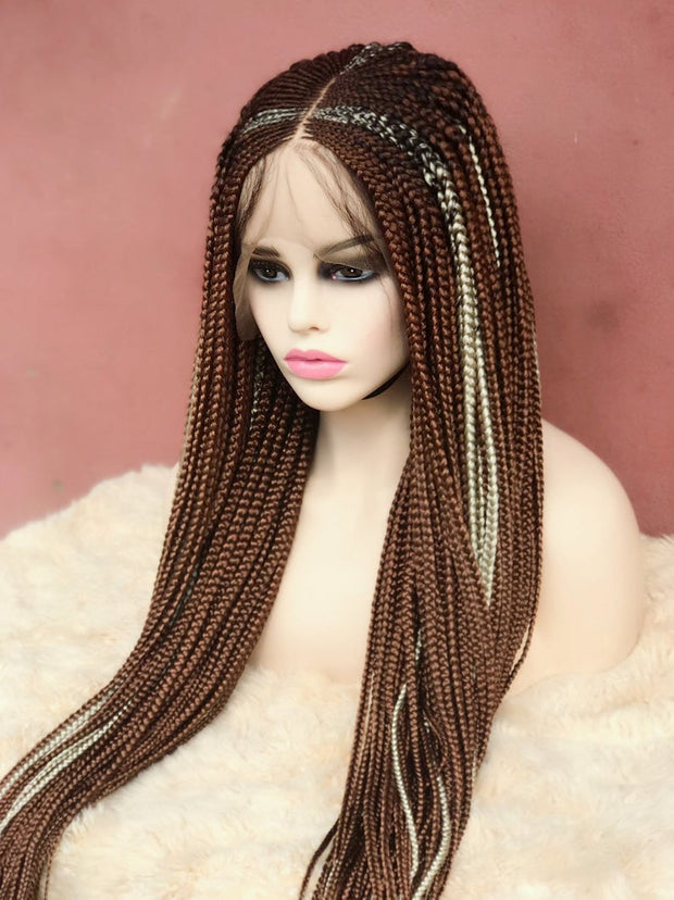 Rihanna Inspired Full lace Wig Conrow Braids Wig
