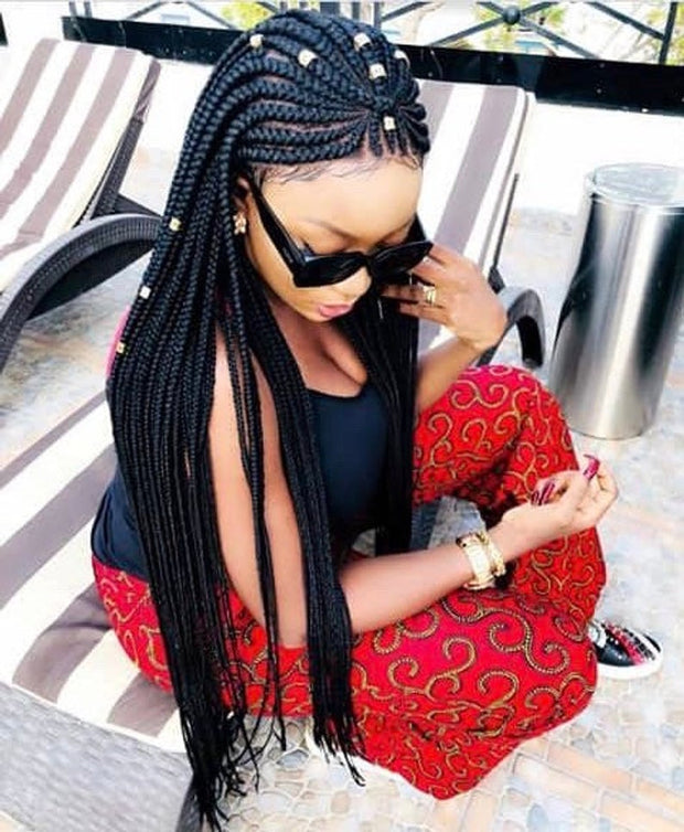 Full Lace Cornrows braided wig