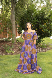 Anissa African Print Maxi Dress