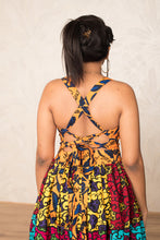 Load image into Gallery viewer, Sacha Patchwork Backless Maxi Dress