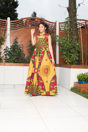 Mirka African Print Maxi Dress