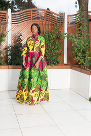 Ruby African Print Maxi Dress
