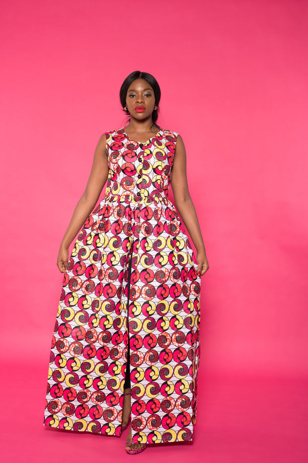 Kimoko African Print Top/Dress