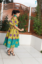 Load image into Gallery viewer, Shakira African Print Midi Dress