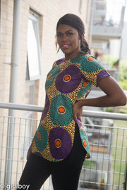Poulina African Print Top