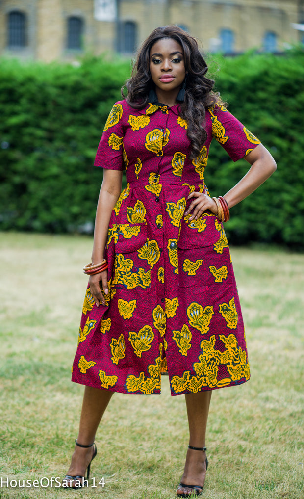 Lolo African Print Dress