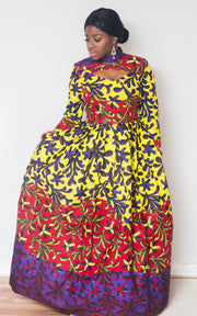 Rainbow African Maxi Dress-HouseOfSarah14