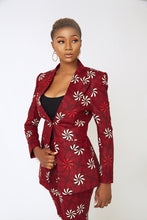 Load image into Gallery viewer, Larissa Red Ankara Suit