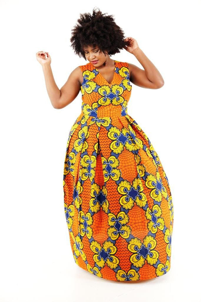 Lilika African Maxi Dress - HouseOfSarah14