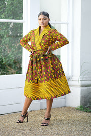 Raissa African Print Midi Dress