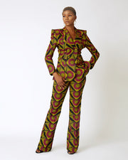 Saangong Double breasted Ankara Suit