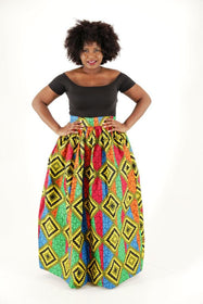 Sunshine African Maxi Skirt