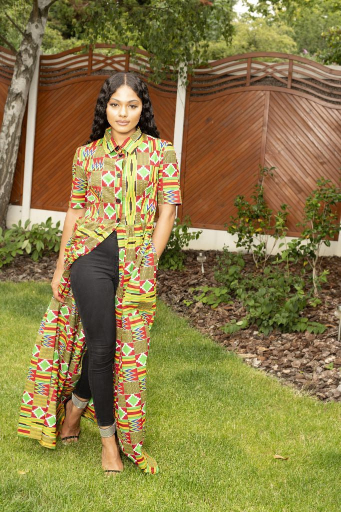 Tsinga Kente Print Top/Dress