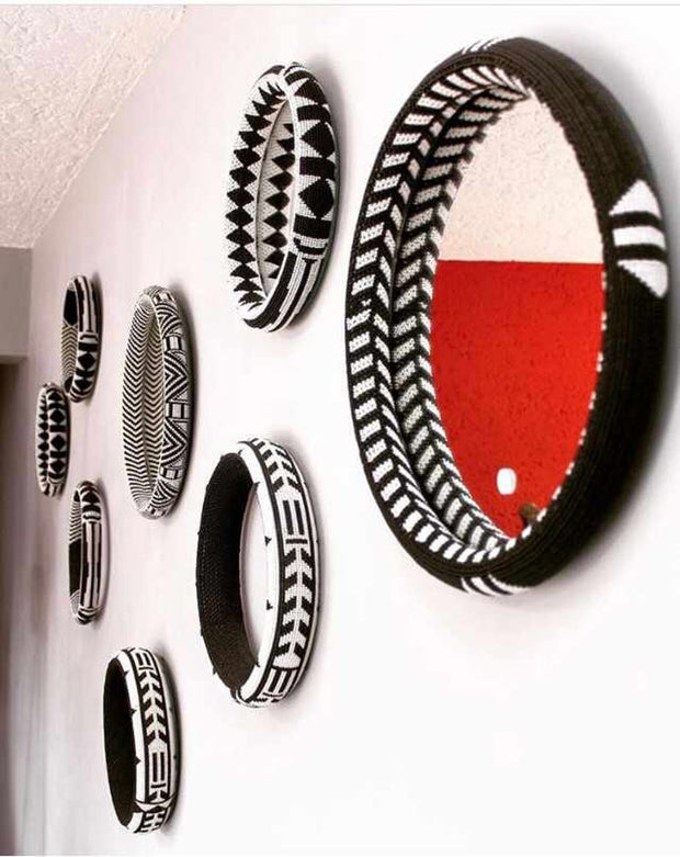 Zulu Handmade Beaded Mirror | Handmade Mirror| Mirror with African Beads