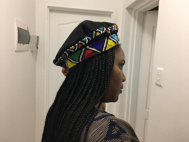 Zulu double layered Beaded Beret Hat