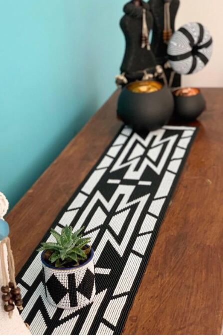 Zulu Handmade Beaded Table Runner| Handmade Table Runner| African Table Runner
