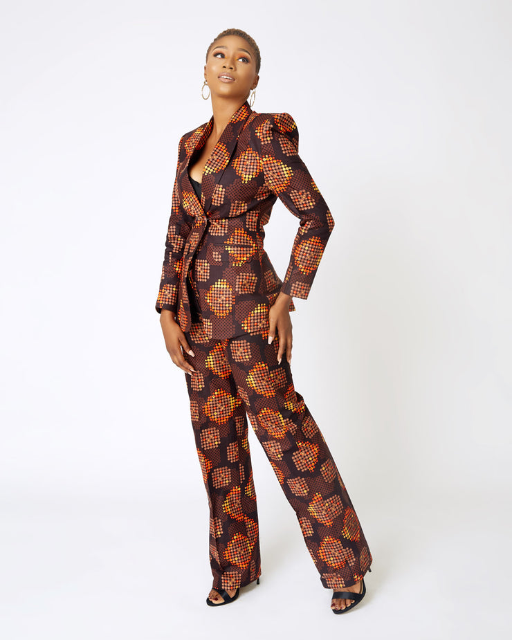 Ena Double Breasted Ankara Suit