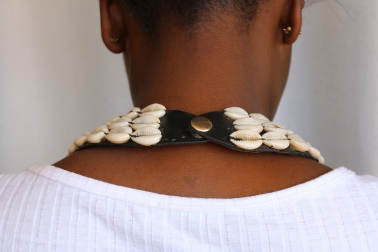 CopSea Shell Necklace, Cowrie Shell Necklace, Natural Shell Jewelry, African Jewelry, Beaded Jewelry, Women Jewelry
