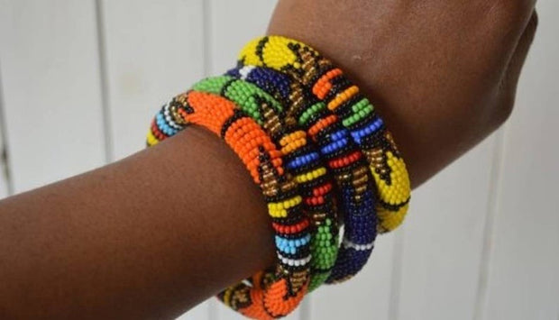 Zulu Beaded Tin Bangles