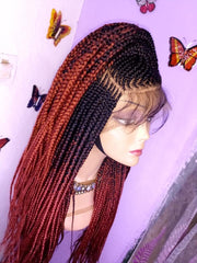 Full lace Wig Conrow Braids Wig