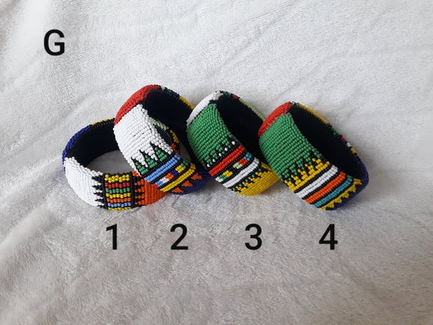 Zulu Beaded Wide Bangles