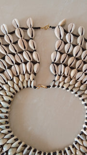 Sea Shell Necklace, Cowrie Shell Necklace, Natural Shell Jewelry, African Jewelry, Beaded Jewelry, Women Jewelry