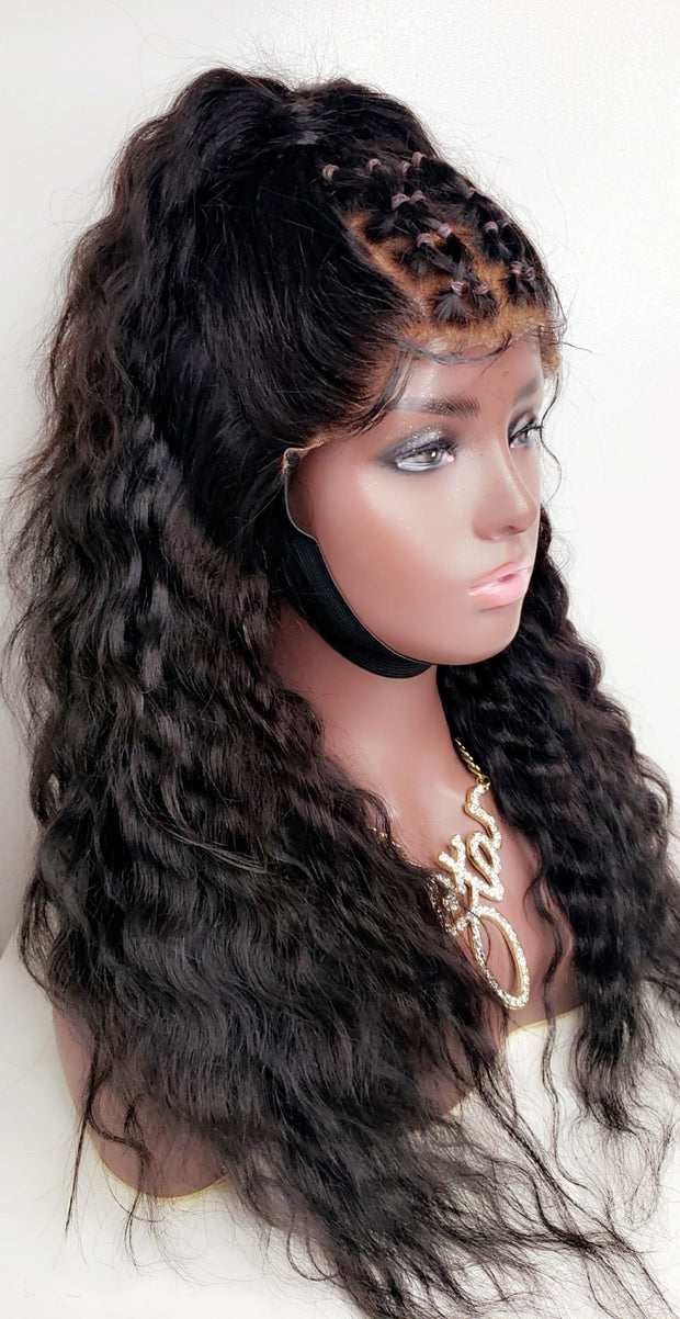 Luxury curly Human hair, full lace wig with curls